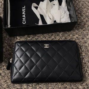Chanel zipAround large wallet